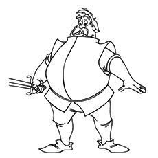 Sir Ector Coloring Page