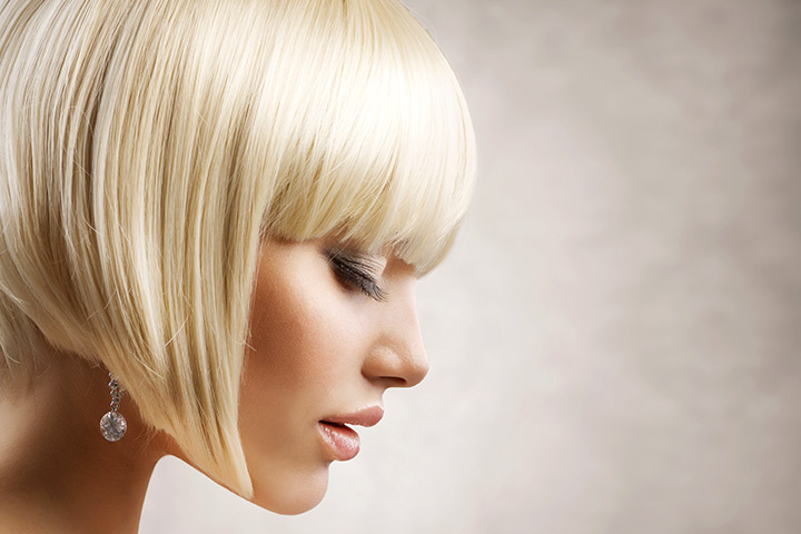 Haircuts For Teenage Girls - Sleek Bob Haircut With Full Front Bangs