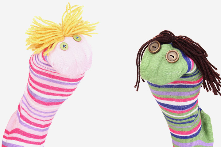 Waste Material Craft Ideas - Sock Puppets