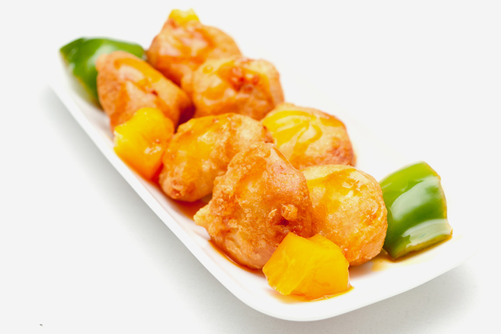 Soya nuggets with green pepper