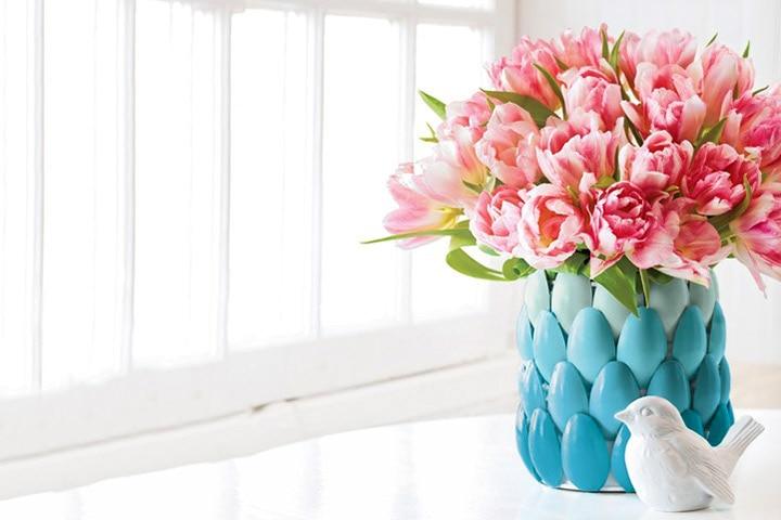 Waste Material Craft Ideas - Spoon Vase