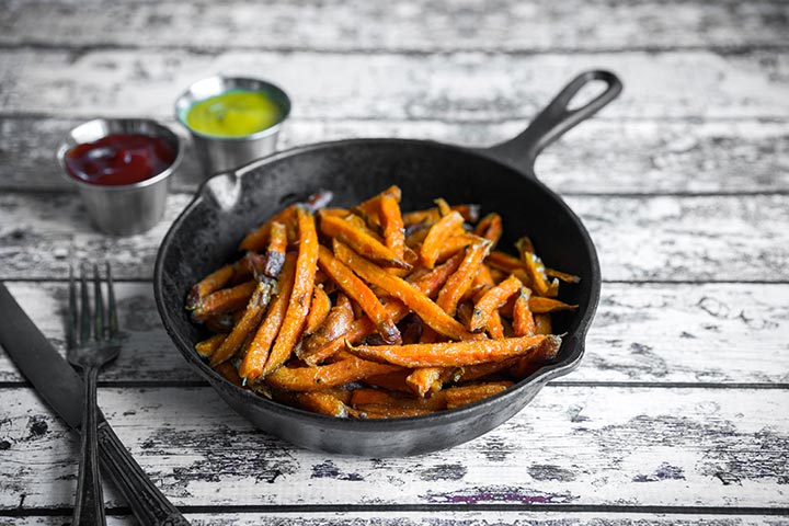 Healthy Snacks For Teens - Sweet Potato Fries With Ketchup