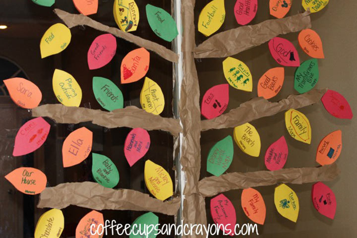 Thanksgiving Activities For Toddlers - Thank You Tree On A Window