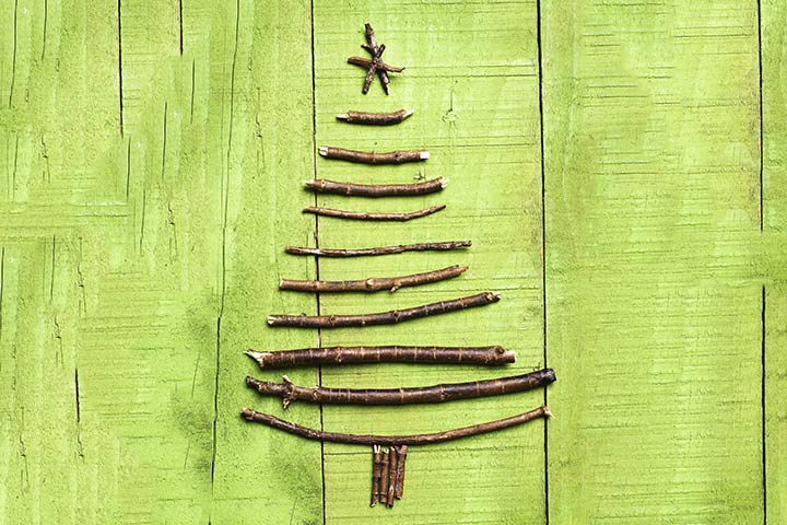 Christmas Crafts For Toddlers - The Branched Up Christmas Tree