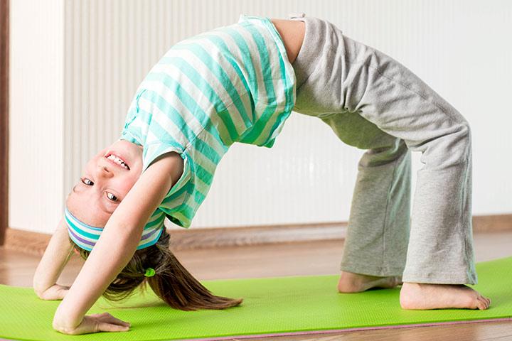 Yoga Poses For Kids - The Bridge Pose Or The Setu Bandha Sarvangasana Pose