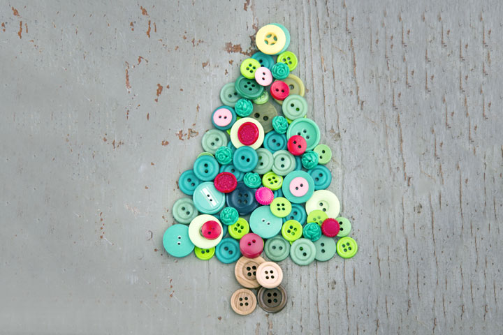 Christmas Crafts For Toddlers - The Button Tree