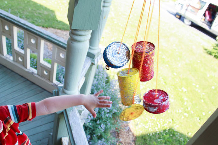 Waste Material Craft Ideas - Tin Can Chimes
