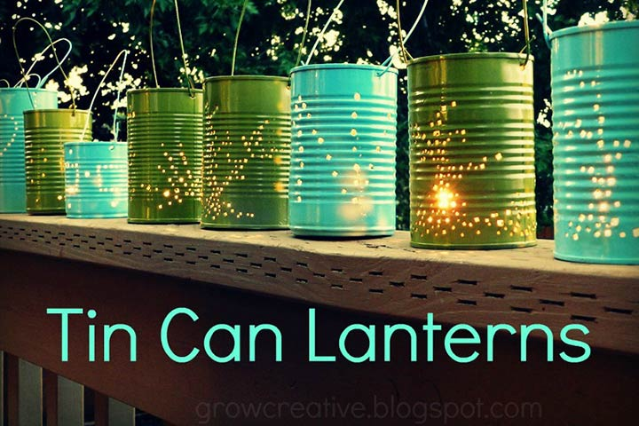 Waste Material Craft Ideas - Tin Can Lantern