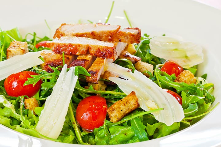 Tomato and Bread Salad with Chicken