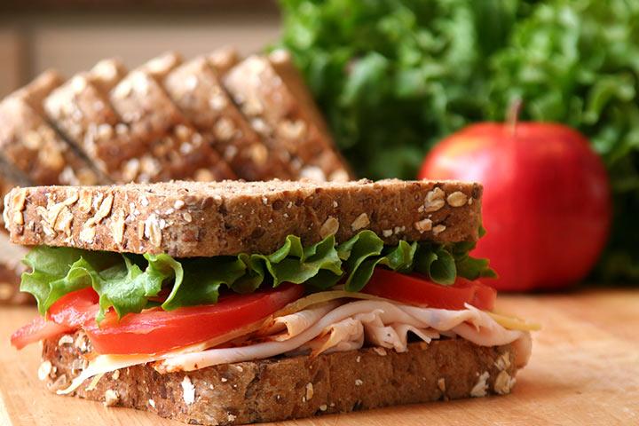 Turkey And Apple Sandwich