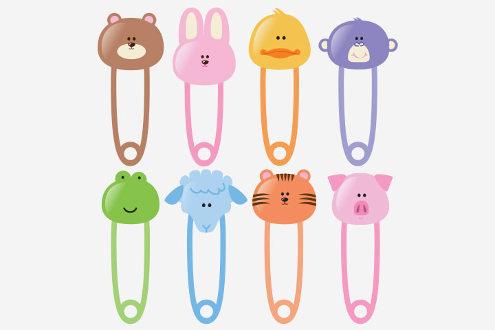 Baby Shower Ideas - Use Baby Diaper Pins
