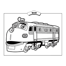 wilson koko coloring sheet - Chuggington Wilson Coloring Pages