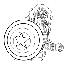 Captain America Coloring Pages - Winter Soldier