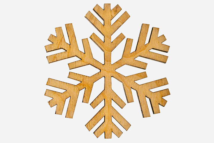 Christmas Craft Ideas For Kids - Wooden Snowflake Ornament
