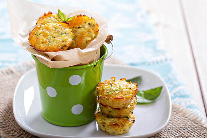 Snack Recipes For Kids - Zucchini Muffins