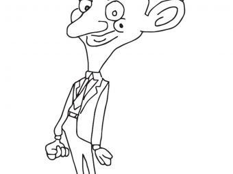 10 Funny Mr. Bean Coloring Pages For Your Toddler