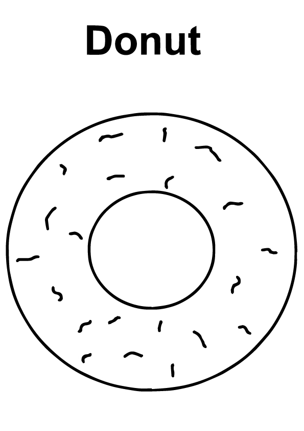 A-Simple-Donut-Coloring-Page