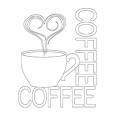 Coffee Coloring Pages - A Steaming Cup Of Coffee