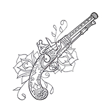 High Quality Gun Coloring Pages   Ancient Gun
