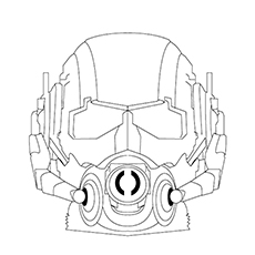 Ant Man Coloring Pages - Ant Man's Mask