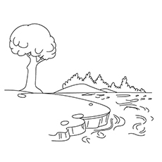 Lake Coloring Pages - Beautiful Lake