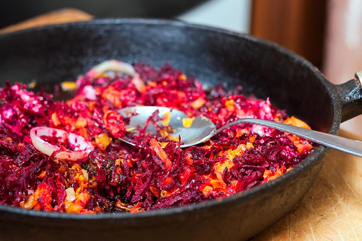Beetroot Recipes For Toddlers - Beet And Carrot Latkes