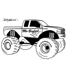 10 Wonderful Monster Truck Coloring