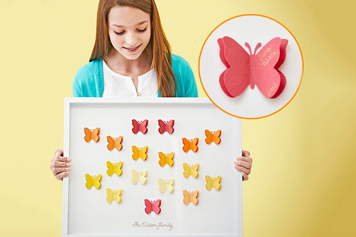Mother's Day Craft Ideas For Kids - Butterfly Family Tree