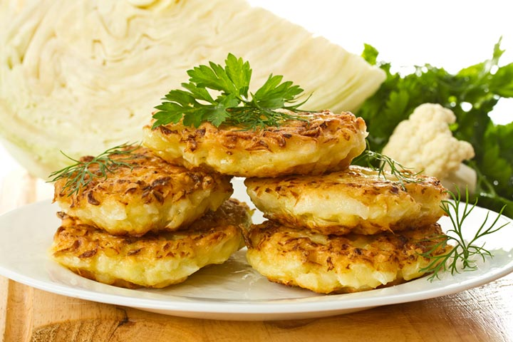 Cabbage pancakes A simple dish that can be prepared in a jiffy.