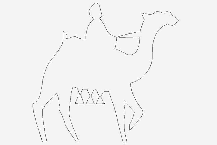 Camel Crafts For Kids - Camel Silhouettes