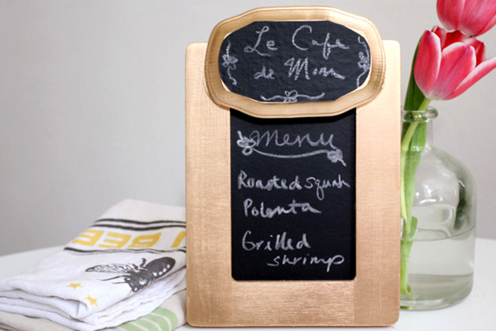 Mother's Day Craft Ideas For Kids - Chal Board Menu Board