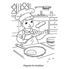 10 wonderful pancake coloring pages for your little ones - Breakfast Coloring Pages