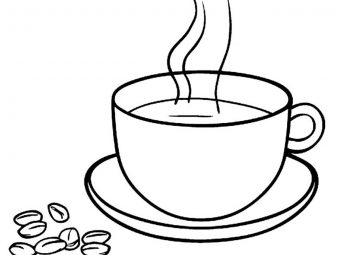 10 Coffee Coloring Pages For Your Little Coffee Lover