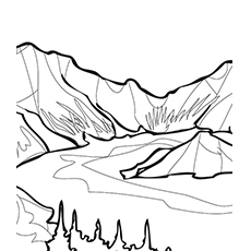 Lake Coloring Pages - Crater Lake