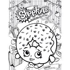 Donut Coloring Page - D'lish Donut ShopkinsWorld