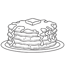 10 Wonderful Pancake Coloring Pages For Your Little Ones