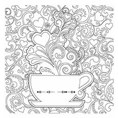 Coffee Coloring Pages - Detailed Coloring Page Of Coffee Mug
