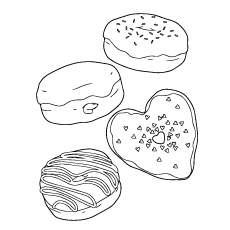 Donut Coloring Page - Different Types Of Donuts
