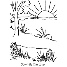 Lake Coloring Pages - Down By The Lake