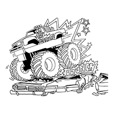 monster truck coloring pages dragons breath - Monster Truck Coloring Pages Easy