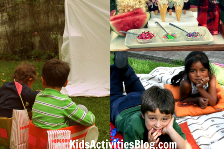 Summer Camp Activities For Kids - Drive-In Movie