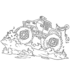 monster truck coloring pages el toro loco - Monster Truck Coloring Pages Easy
