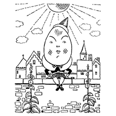 Humpty Dumpty Coloring Pages - Elizabethan Age Humpty Dumpty