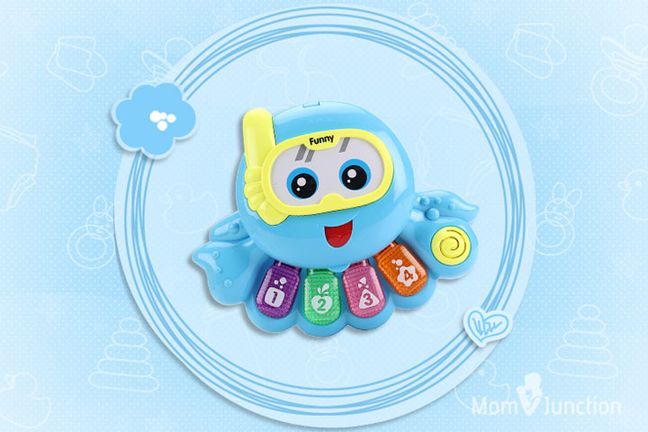 Best Toys For Babies - Fab N Funky Octopus Shape Musical Toy