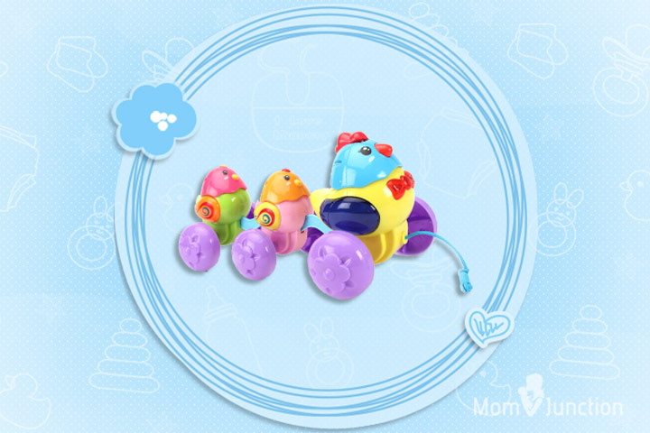 Best Toys For Babies - Fab N Funky Pull Along Musical Toy Hen