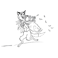 Roald Dahl Coloring Pages - Fantastic Mr. Fox