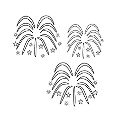 Chinese New Year Coloring Pages - Firework