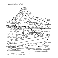 Lake Coloring Pages - Glacier National Park