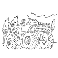 monster truck coloring pages grave digger - Monster Truck Coloring Pages Easy