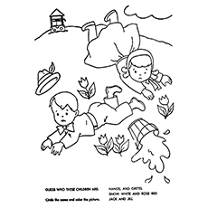 jack and jill coloring page guess the kids